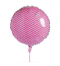 One Pink Chevron Balloon #13627115