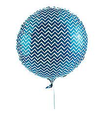 One Turquoise Chevron Balloon#13627134