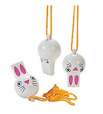 12 Plastic Bunny Whistles #13627288