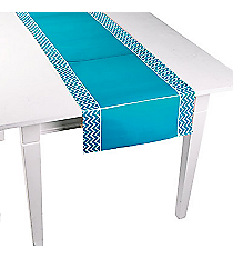One Turquoise Chevron Table Runner #13627453