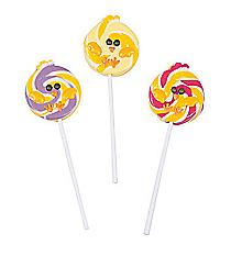 12 Chubby Chicks Swirl Lollipops #13628345