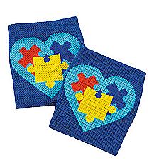 12 Autism Awareness Wristbands #13629380