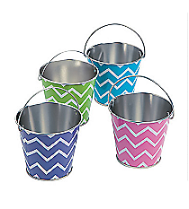 12 Metal Chevron Pails #13629789