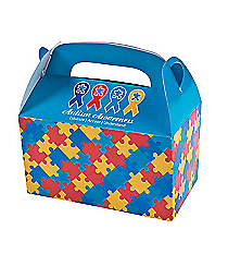 12 Autism Awareness Treat Boxes #13629991