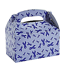 12 Purple Ribbon Treat Boxes #13630033