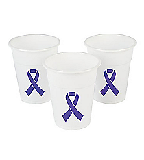 50 Purple Ribbon Disposable Cups #13630036