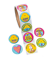 "1 Roll ""Jesus is the Reason For the Season"" Easter Stickers #13630648"