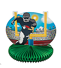 1 Football Player and Goal Centerpiece #13630786