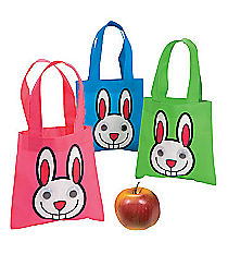 12 Mini Google Eye Bunny Totes #13632122
