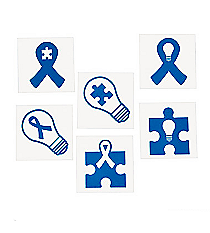 72 Blue Autism Awareness Tattoos #13632519