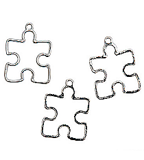 12 Openwork Puzzle Piece Charms #13641989