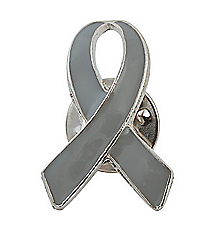 12 Grey Awareness Ribbon Pins #13642929