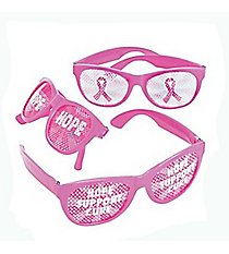 12 Breast Cancer Awareness Pinhole Glasses #13643078
