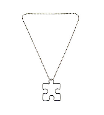 12 Autism Awareness Puzzle Piece Necklaces #13643281
