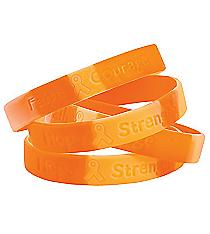 12 Orange Ribbon Camouflage Bracelets #13643445