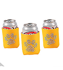 6 Bling Paw Yellow Can Covers #13653924