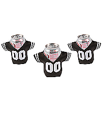 12 Black Jersey Shaped Can Covers #13653927