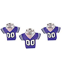12 Purple Jersey Shaped Can Covers #13653938