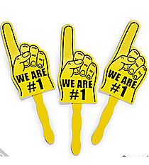 12 Yellow We Are #1 Finger Fans #13653975