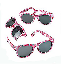 12 Pink Ribbon Camouflage Sunglasses #13654650