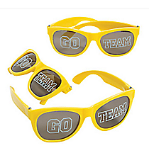 12 Go Team Yellow Sunglasses #13655816