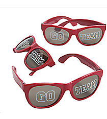12 Go Team Burgundy Sunglasses #13655827