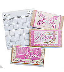 12 Religious Pink Ribbon 2015-2016 Pocket Planners #13655912