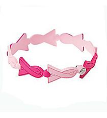 12 Pink Ribbon Link Bracelets #13657635