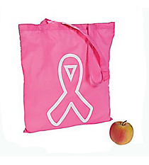12 Large Pink Awareness Ribbon Totes #13660267