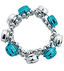 12 Stretchy Jingle Bell Bracelets #13663818