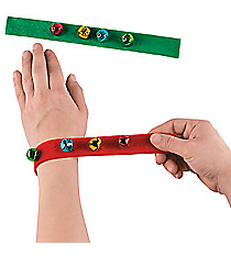 12 Jingle Bell Slap Bracelets #13665135