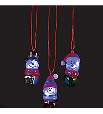 12 Snowman Flashing Necklaces #13665153