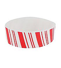 1 Dozen Rubber Candy Cane Big Band Bracelets #13666099