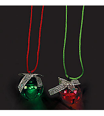 12 Light Up Jingle Bell Necklaces #13666114
