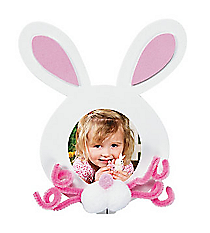 12 Easter Bunny Picture Frame Magnet Craft Kits #13678217
