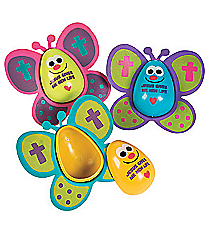 12 Religious Butterfly Easter Eggs #13681661