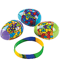 12 Bracelet-Filled Religious Stained Glass Easter Eggs #13681691