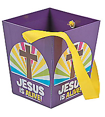 "12 ""He Lives"" Buckets with Ribbon Handles #13681703"