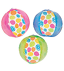 12 Inflatable Easter Pattern Mini Beach Balls #13682134