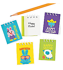48 Mini Easter Spiral Notepads #13682319