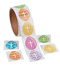 1 Roll Easter Egg Cross Stickers #13682485