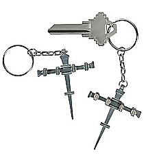 12 Nail Cross Key Chains #13683126