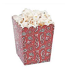 24 Bandana Print Popcorn Boxes #13685569