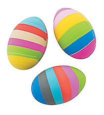 12 Easter Egg Erasers #13685704