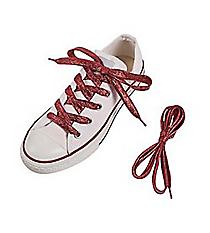 1 Pair of Team Spirit Metallic Red Shoelaces #13705131