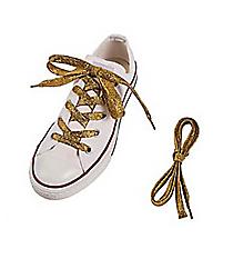 1 Pair of Team Spirit Metallic Yellow Shoelaces #13705133