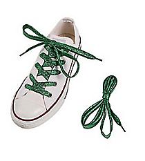 1 Pair of Team Spirit Metallic Green Shoelaces #13705134