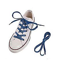 1 Pair of Team Spirit Metallic Blue Shoelaces #13705135