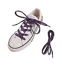 1 Pair of Team Spirit Metallic Purple Shoelaces #13705136