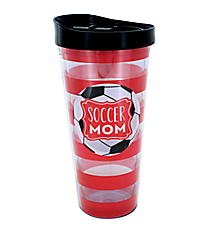 Soccer Mom 22oz Double Wall Tumbler with Straw #F138784